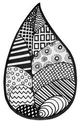 Zentangle Leaf