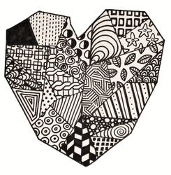 Zentangle Heart 1
