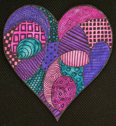 Zentangle Heart 2