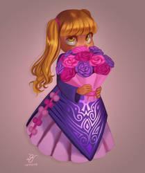 little flower girl by Boss-Arts