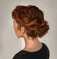 Redhead Hair Study by Boss-Arts