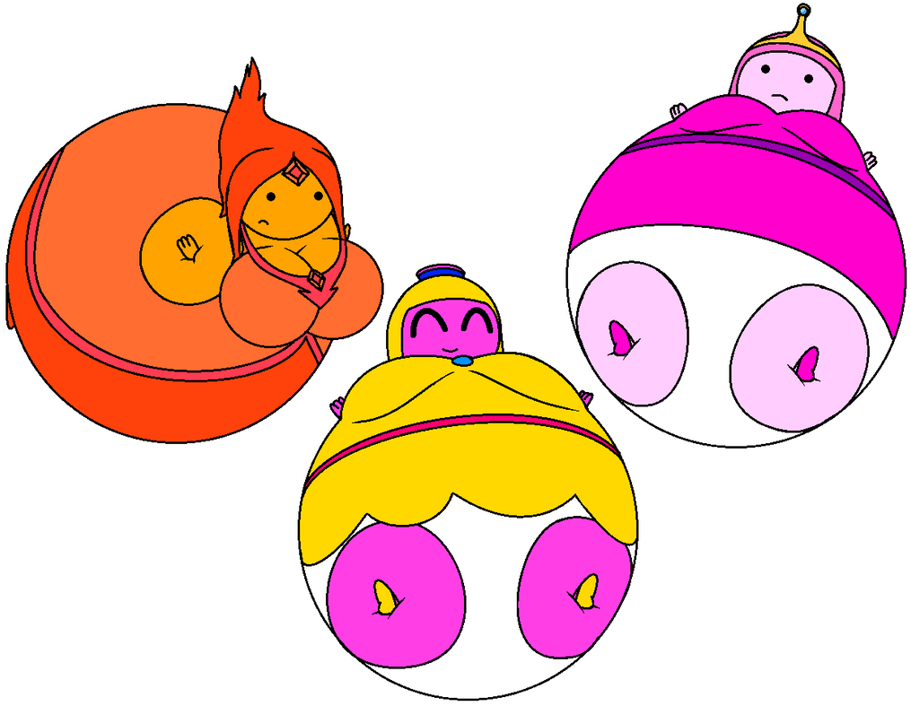 Inflated princess bubblegum