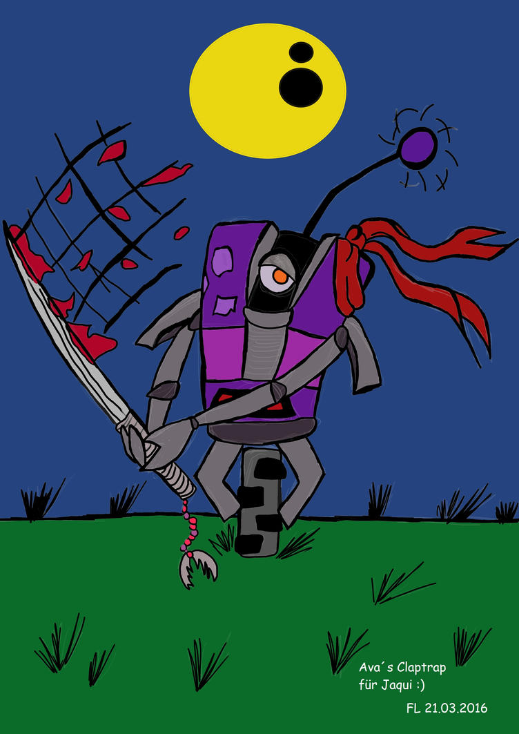 Interplanetary Ninja Assassin Claptrap (my style) by AvasweetsJoker
