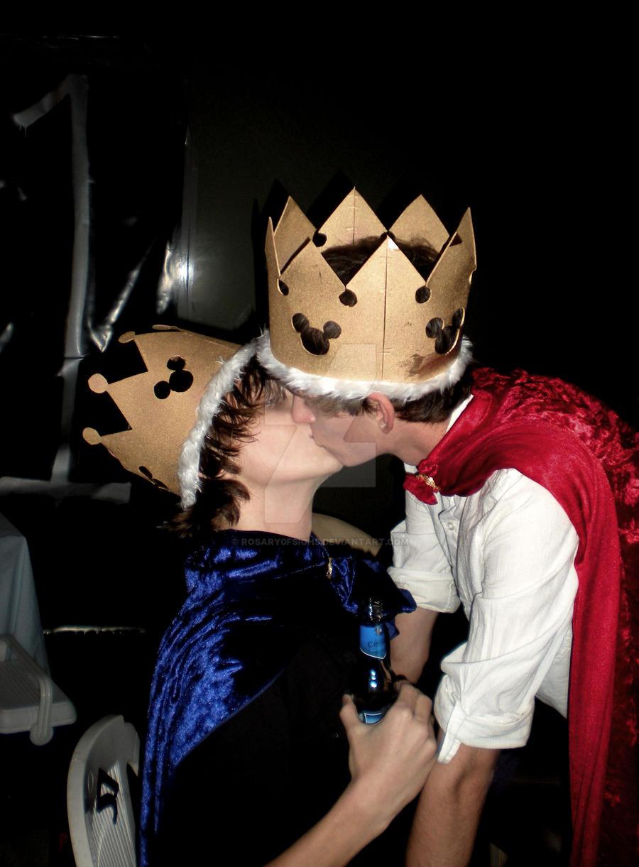 Disney Princes Kissing by Rosary0fSighs