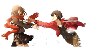 Kisaragi Shintaro and Tateyama Ayano Render