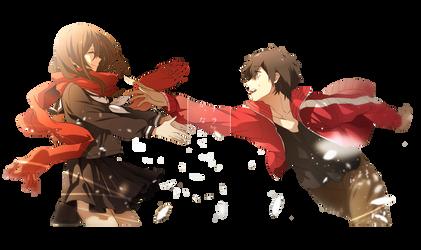 Kisaragi Shintaro and Tateyama Ayano Render by Akiyumi-chan