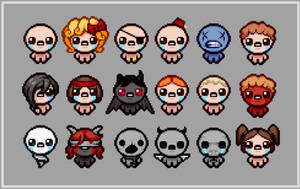 Binding Of Isaac Character Resprites