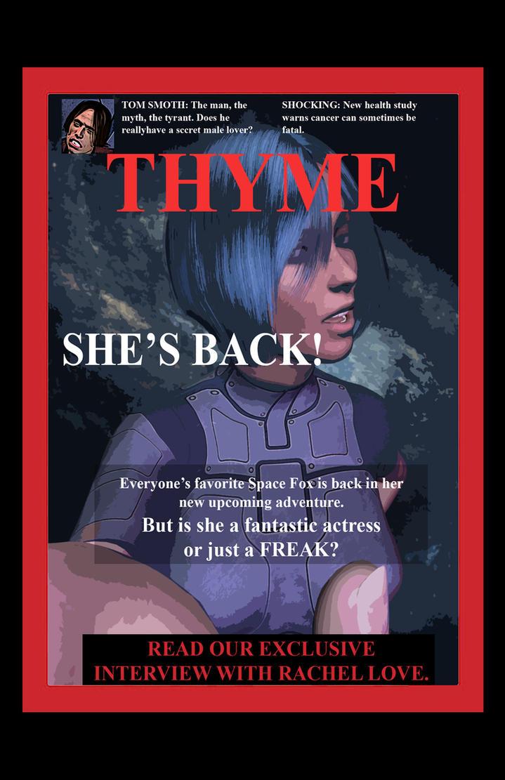 Thyme magazine. Rachel Love edition. by mixmaster450000
