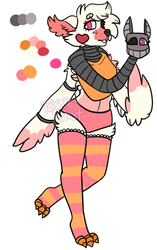 Funtime Chica x Mangle Grid Adopt by ToXXicArtist
