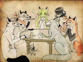 Fox Poker by MadCheshireFox