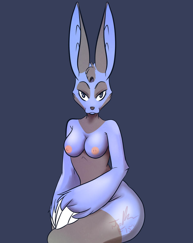 Proper Blue Bunny by MadCheshireFox