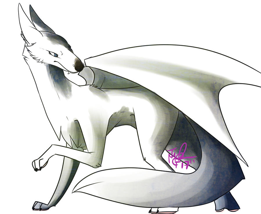 Wolf Dragon by MadCheshireFox