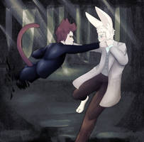 Hello Angel - Good Omens Alice in Wonderland AU