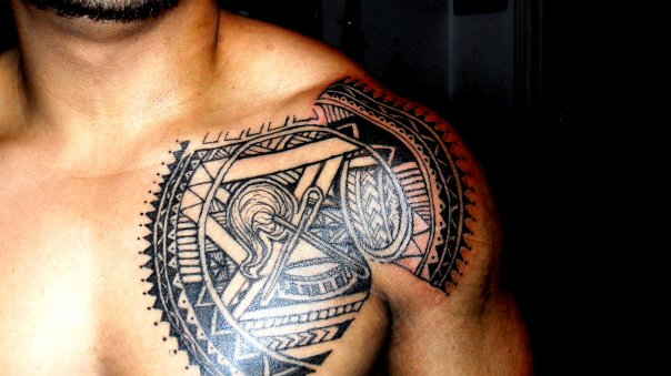 drew samoan tribal chest plate by skufius on deviantart