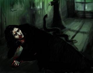 Snape in the shrieking shack 2 by kykywka