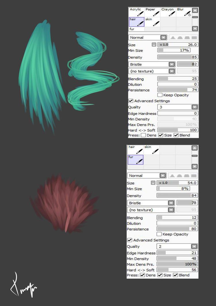 brush settings by TinaEnbuske