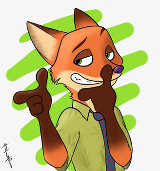 Nick Wilde from Zootopia by FireXtremeID