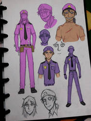 William and Michael Afton Concept Art by FireXtremeID