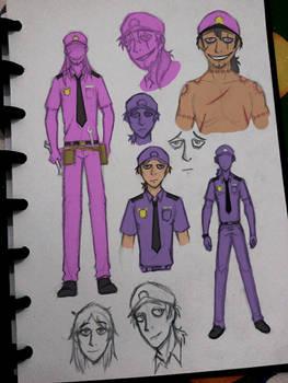 William and Michael Afton Concept Art