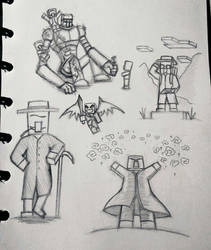 Minecraft Doodles by FireXtremeID