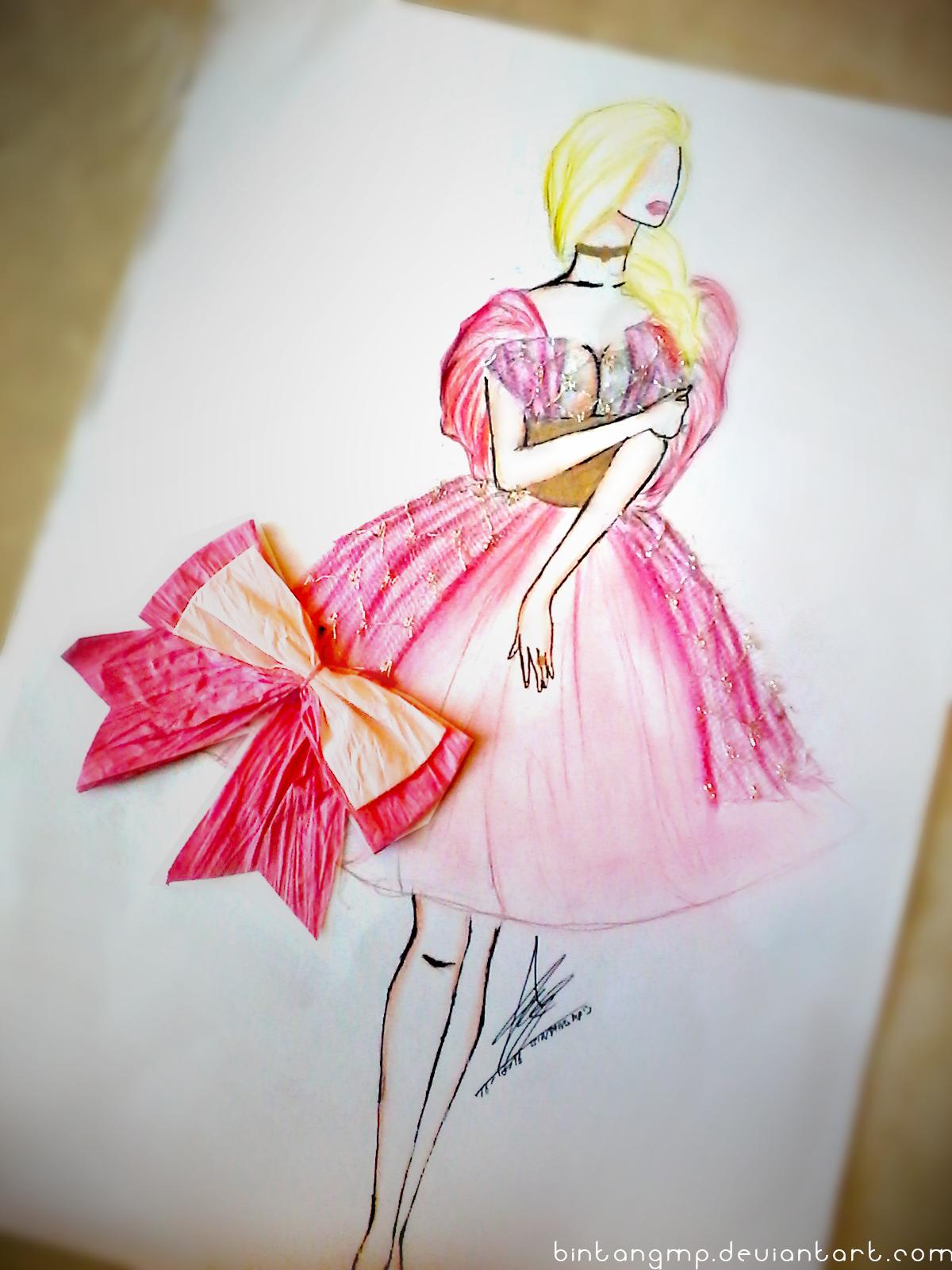 Fashion Sketch 10 Pink BintangMP