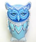 blue ice owl toy by stbsib