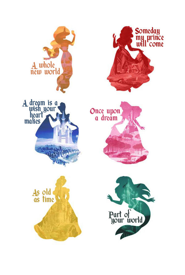 Princesses silhouettes is Disney Princess Silhouettes
