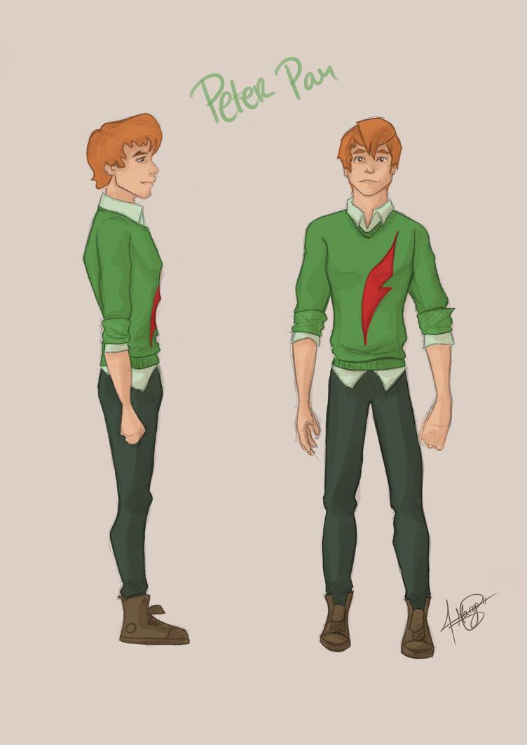 Modern Day: Peter Pan by MargaHG on DeviantArt Original Tinkerbell Drawings