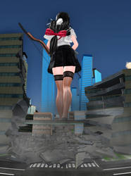Giantess Shouhou Destruction by KyokoYuikoGTS