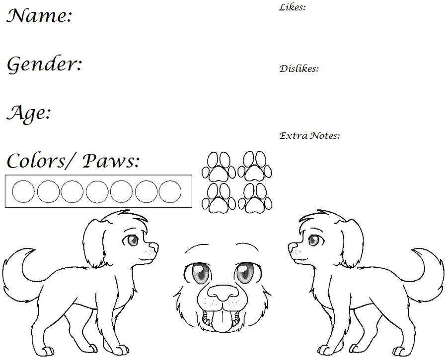 Dog Ref Lines {Redone and Paint Friendly} by Violetkay214