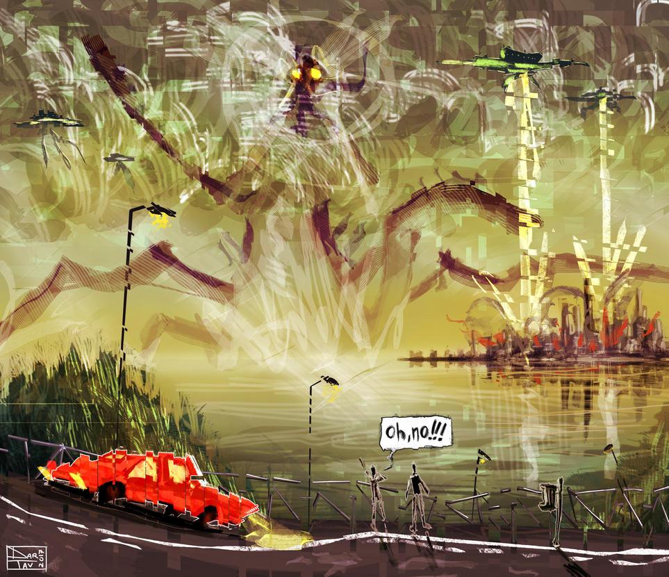 Alien attack!!! by Darhendartav