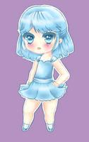 Blue Chibi Girl by Xukia