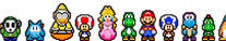 Mario RPG Overworld Characters by Cyberguy64