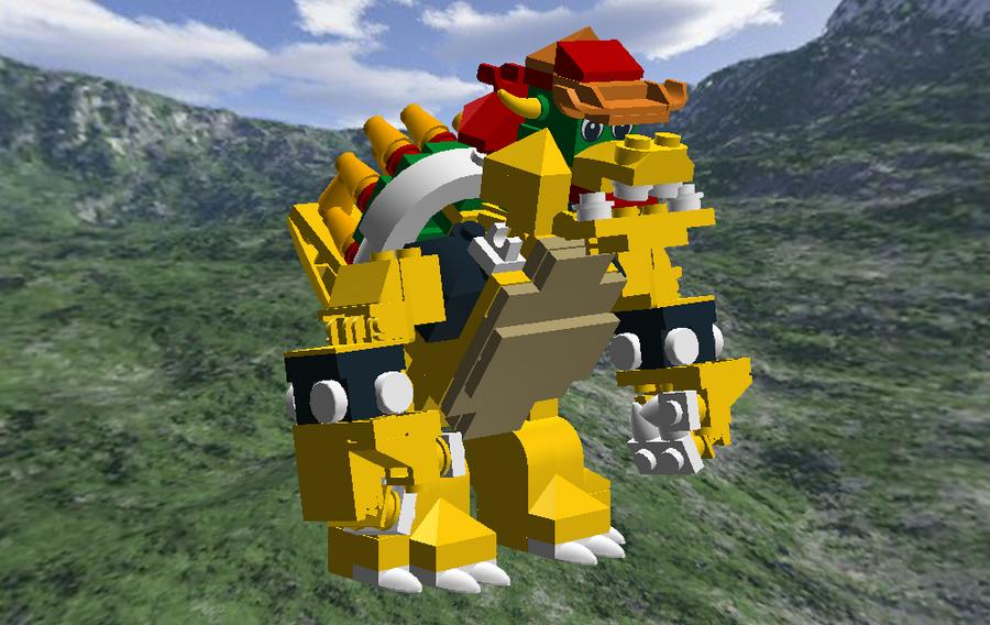 Lego Digital Designer Bowser Take Two By Cyberguy64 On Deviantart