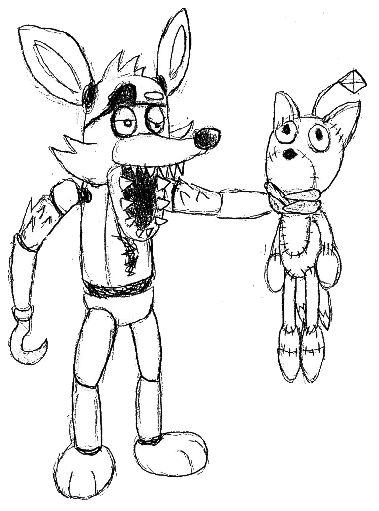 foxy the pirate coloring pages - photo#4