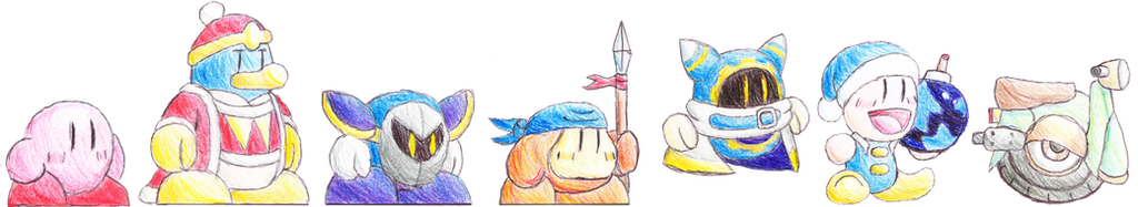 Kirby Characters by Cyberguy64