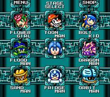 Mega Man Fangame: Stage select