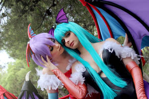 Morrigan and Lilith Aensland