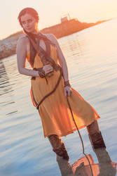 Nymeria Sand cosplay by ThelemaTherion
