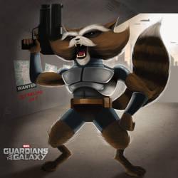 Rocket Raccoon by asylum-studios