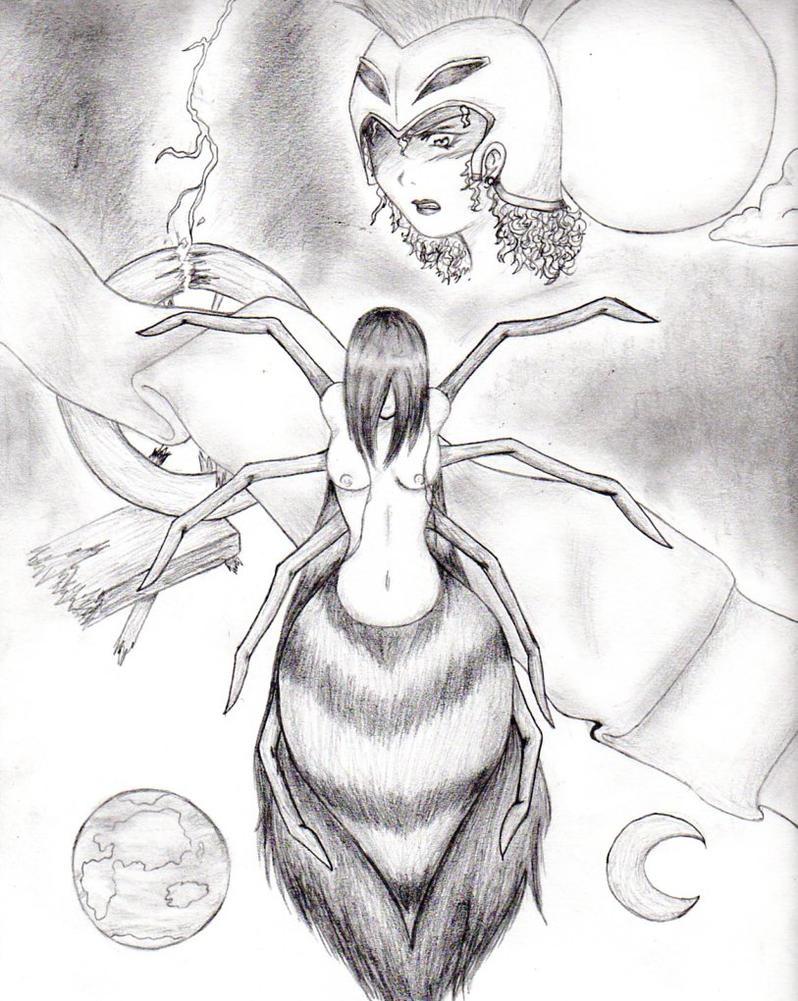 Angering the Gods - Arachne by Nijihasu