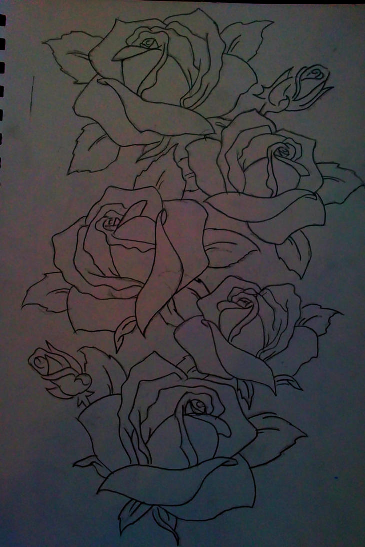 Roses outline by Rot4me on