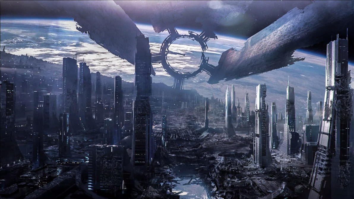 Mass Effect 3 Destroyed Citadel by droot1986