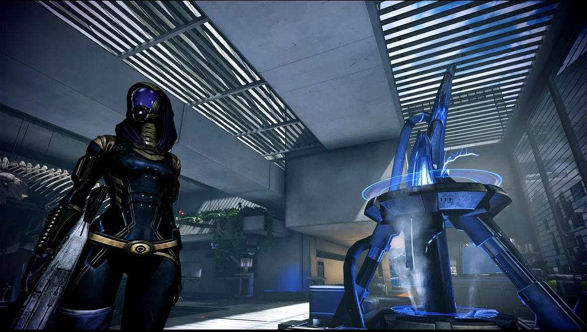 Mass Effect 3 Tali in Dr Brysons Office Dreamscene by droot1986