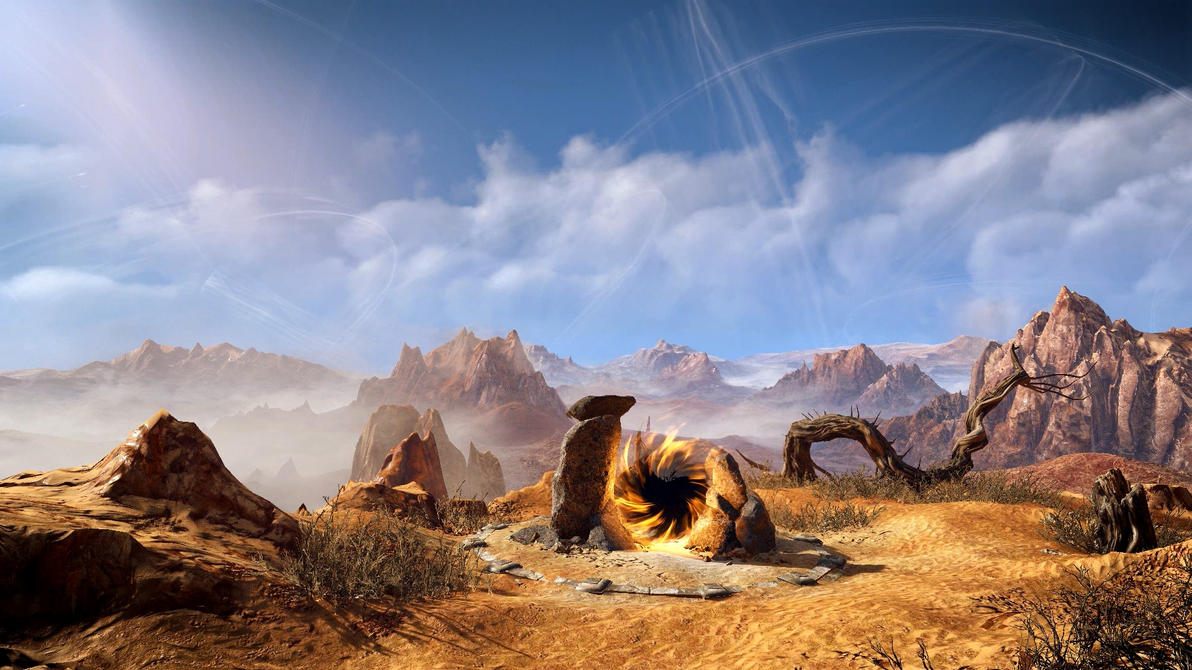 Witcher 3 Ddiddiwedht Desert 6 Dreamscene by droot1986