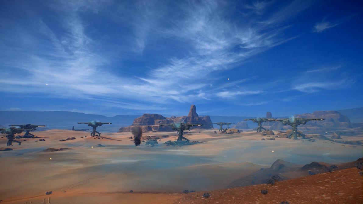 Mass Effect Andromeda Presson Dunes Dreamscene by droot1986