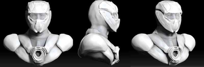 Final Render Helmet And Head No Texture