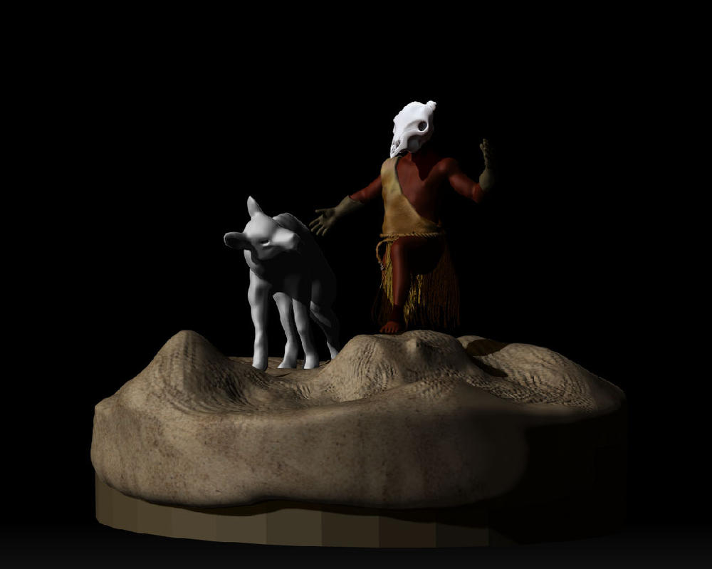 Final Sculpt Progress by Demon-Shadow-Wolf