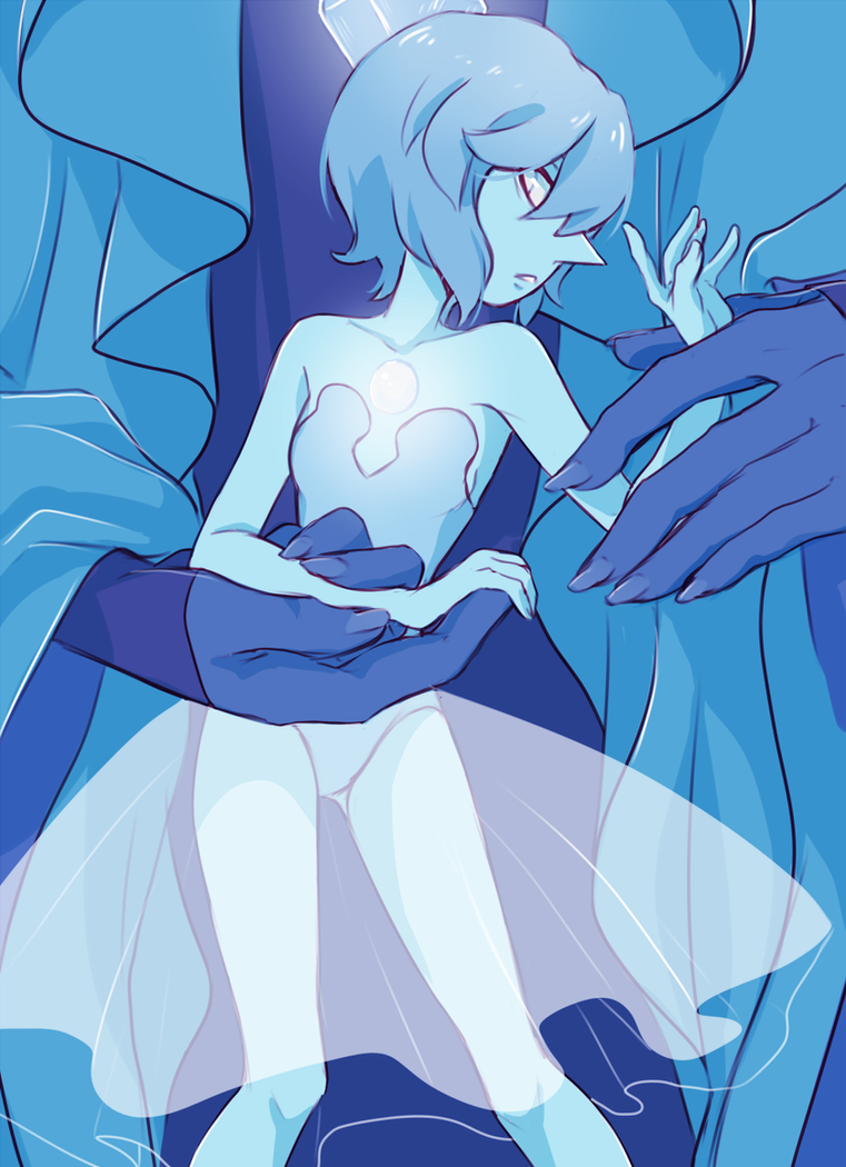 "Blue Diamond and her Pearl from Steven Universe ""The Answer"" Please DO NOT REPOST Also on tumblr"