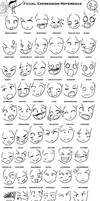 Anime Expressions Reference by oreokeki
